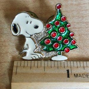 Vintage Snoopy Christmas Starline 1958 Brooch pin